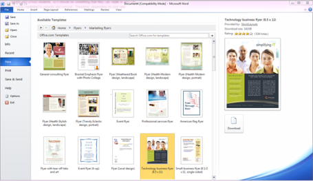 creating a marketing flyer with microsoft word 2010 marketing with